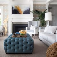 20 Gorgeous Living Room Design Ideas with Tufted Ottoman ...