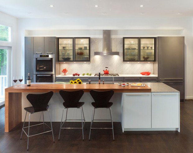 space saver kitchen table island movable 20 efficient and gorgeous one-wall design ideas ...
