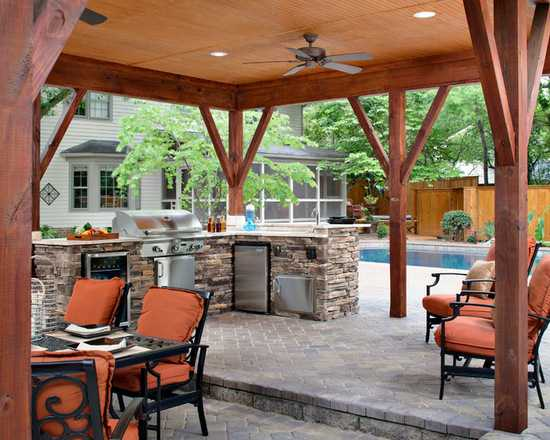 17 stunning covered outdoor kitchen