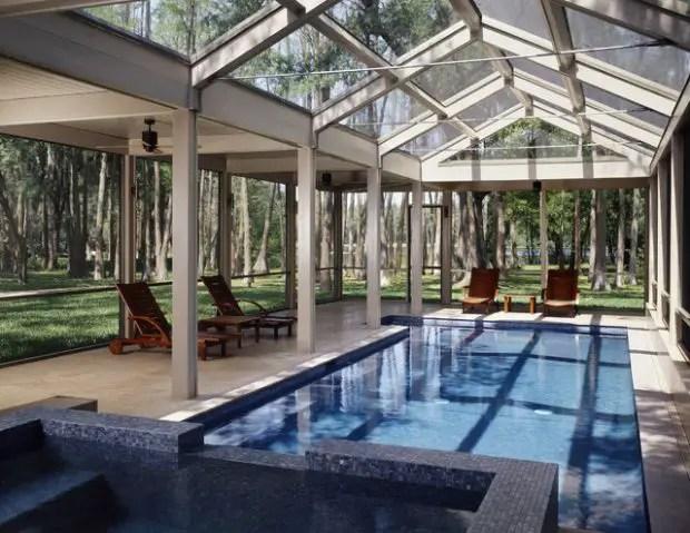 19 stunning covered pool design ideas