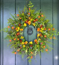 15 Colorful Handmade Summer Wreath Ideas To Refresh Your ...