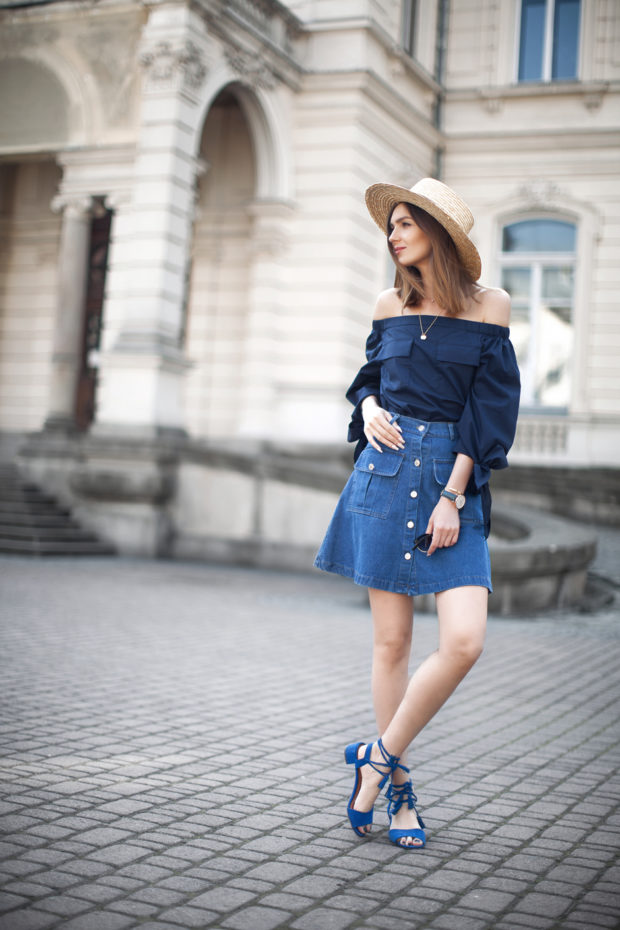 The Hottest Summer Fashion Trend: 20 Stylish Off the Shoulder Top Outfit Idea