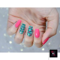 Mix of Pink and Aqua Nail Polish Colors for Cute Summer ...