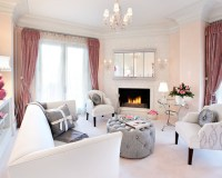 Mix of Grey and Pink for Chic Living Room Decor (Part 1 ...