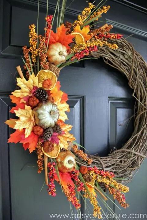 17 DIY Fall Wreaths to Dress Up Your Front Door