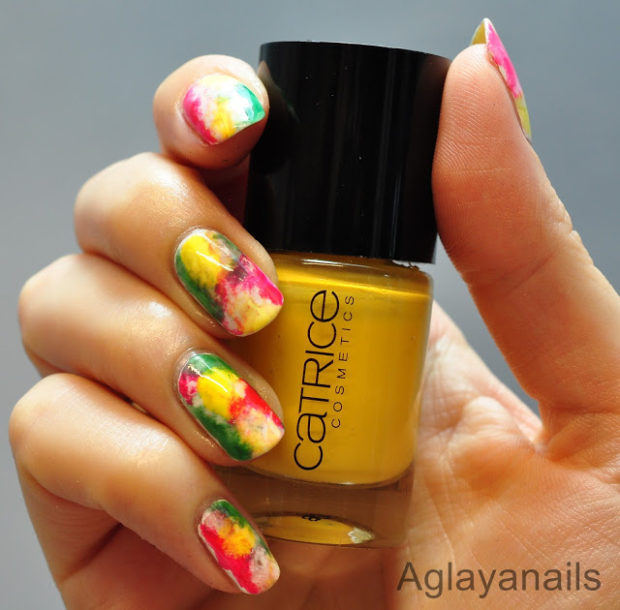 Mix Of Red Yellow And Green For Creative Fun Nail Art