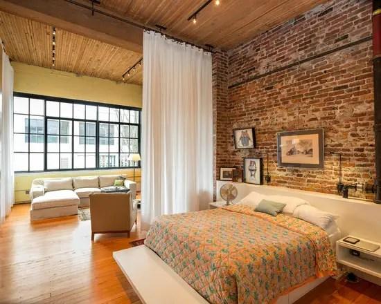 18 Urban Loft Style Bedroom Design Ideas