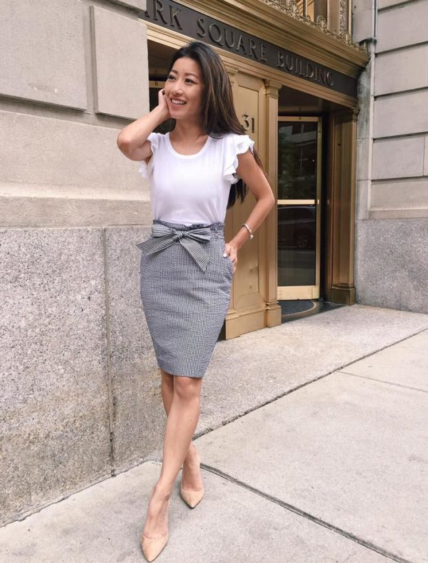 Summer In The Office: 17 Preppy Work Appropriate Outfit Ideas
