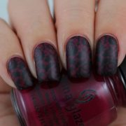cool dark matte nail design