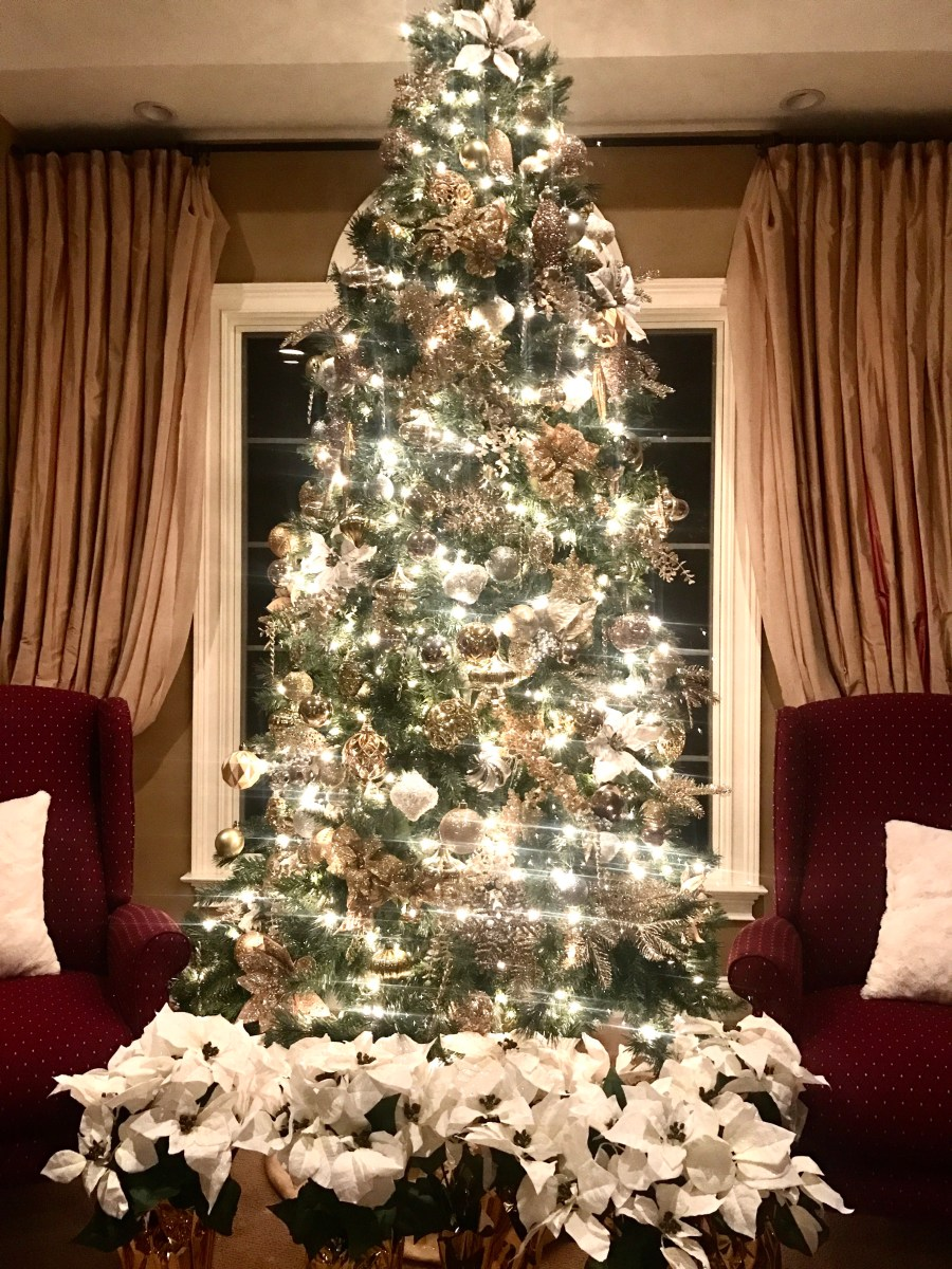 Classic and Elegant: White, Gold, and Silver Christmas Trees