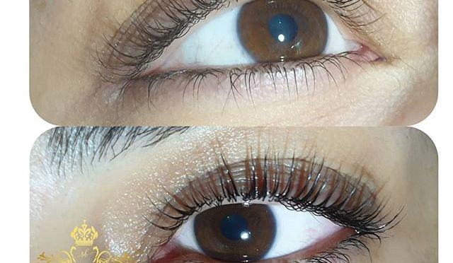 🌸Före & efter keratin lash lift inkl.färgning av fransar 🌸