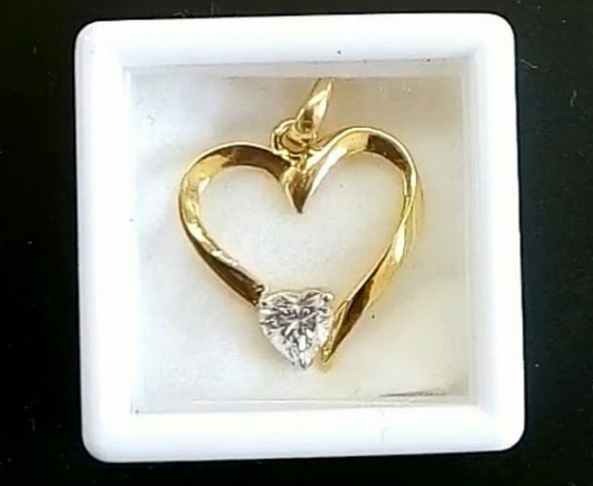 Heart in a Heart Pendant