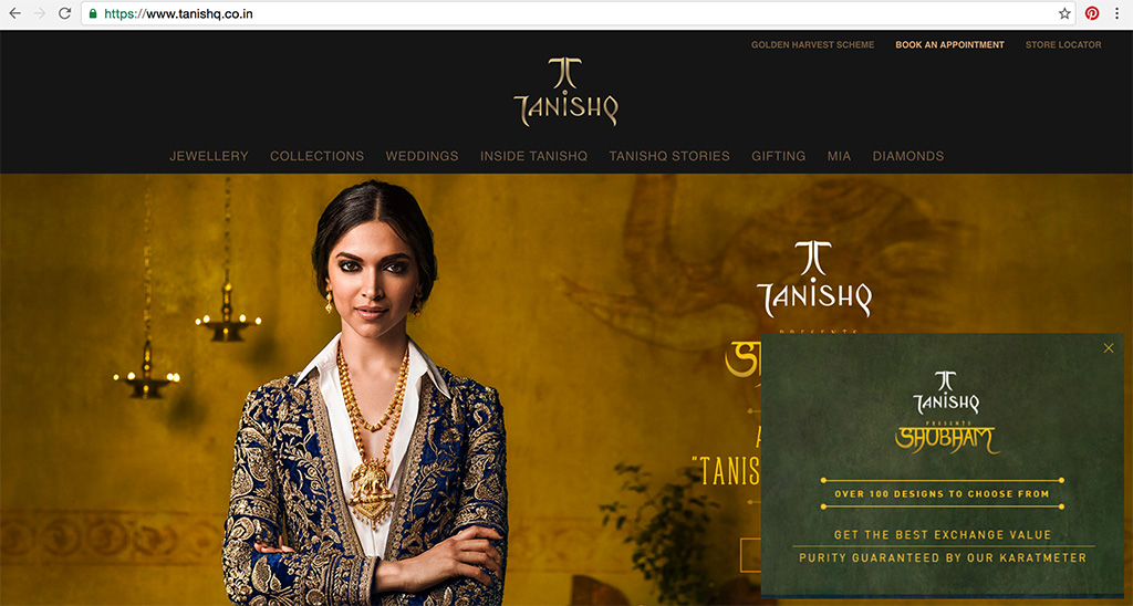The Elegant Deepika Padukone In Tanishq's 22KT Gold Jewelry.