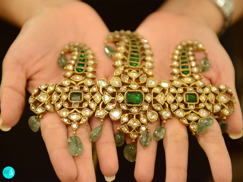 Antique Polki And Emerald Kilangi-Sarpech By ShriHari Diagems Mens Jewellery And Tarun Tahiliani