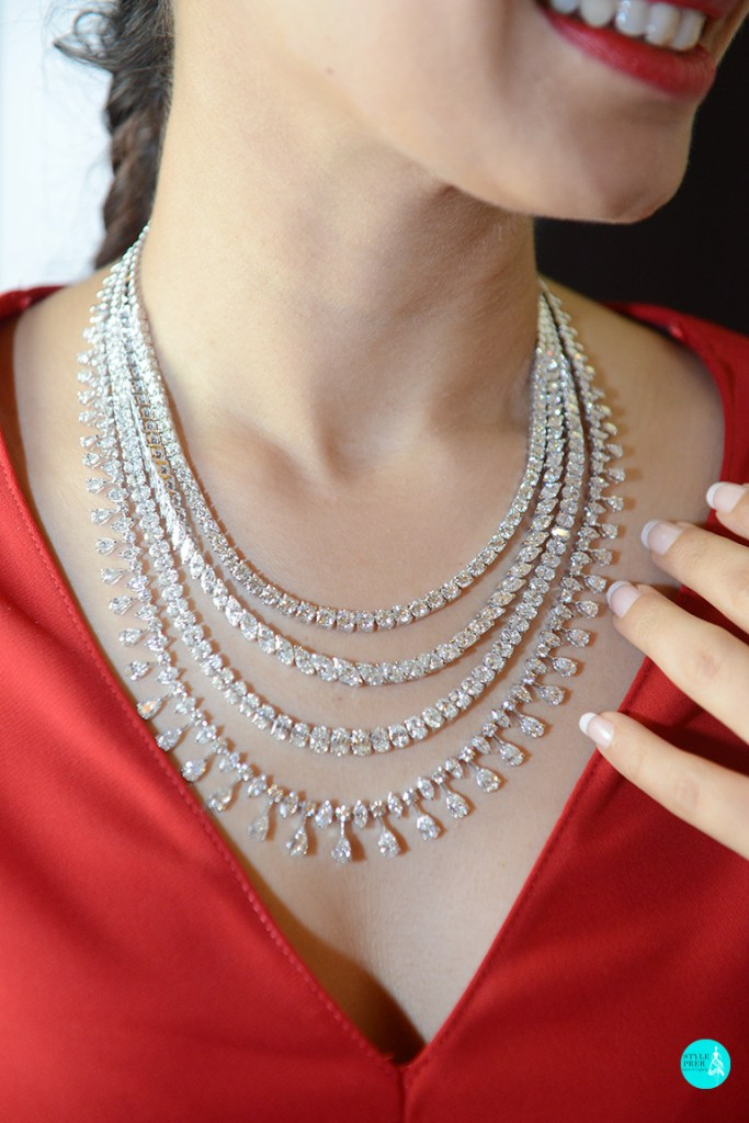 Fancy Diamond Layered Necklace By Kantilal Chhotalal