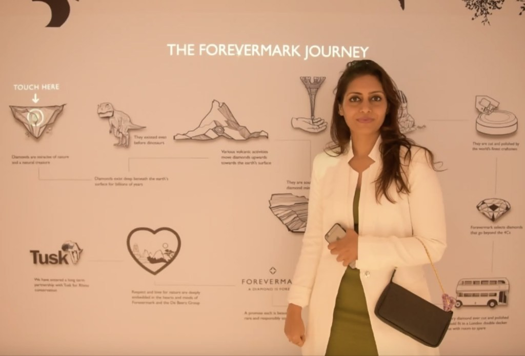 Experiencing The Forevermark Journey Through A TouchScreen Digital Wall