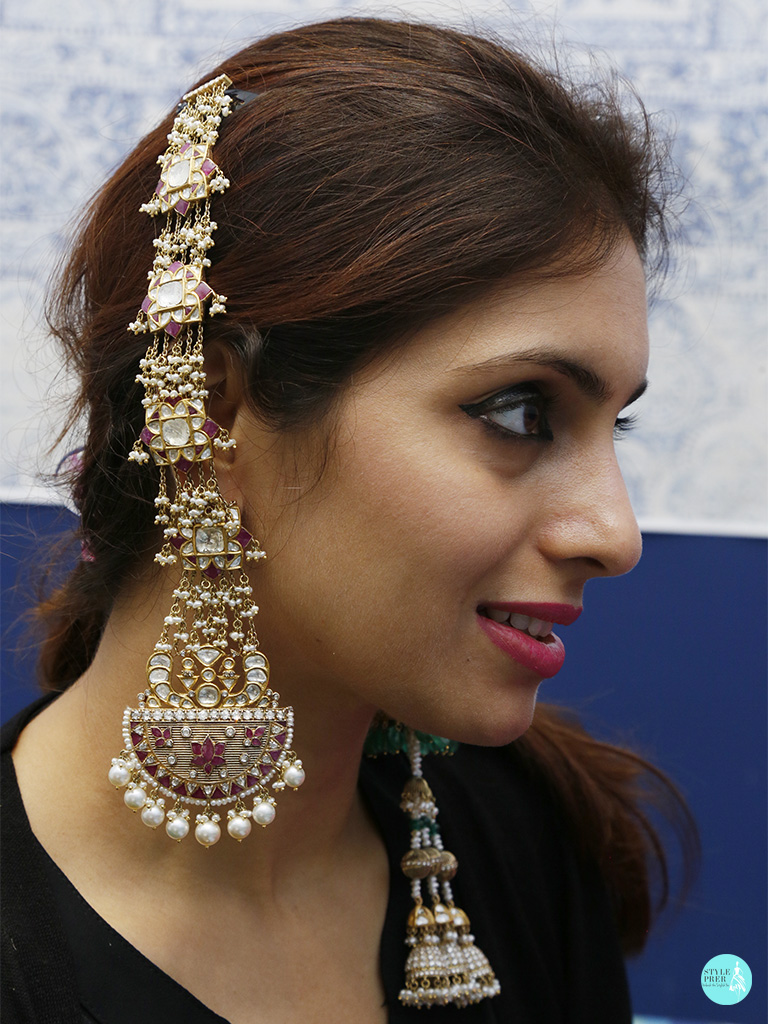 Kashmiri Jhumkas In Polki, Ruby, Pearl And Gold By Birdhichand