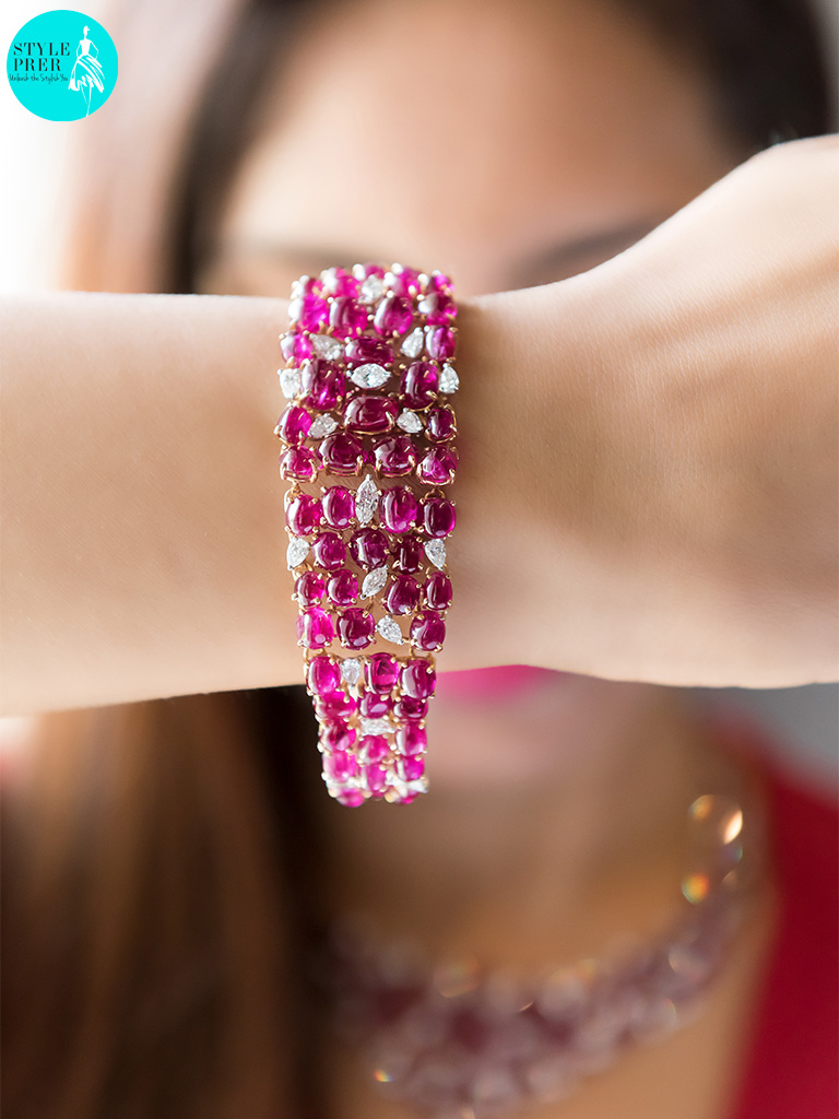 Burmese Cabochon Ruby And Fancy Diamond Bracelet By GYan Jewels At Gyan Museum