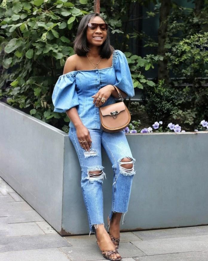 edaowofashion milkmaid top distressed jeans stylerave