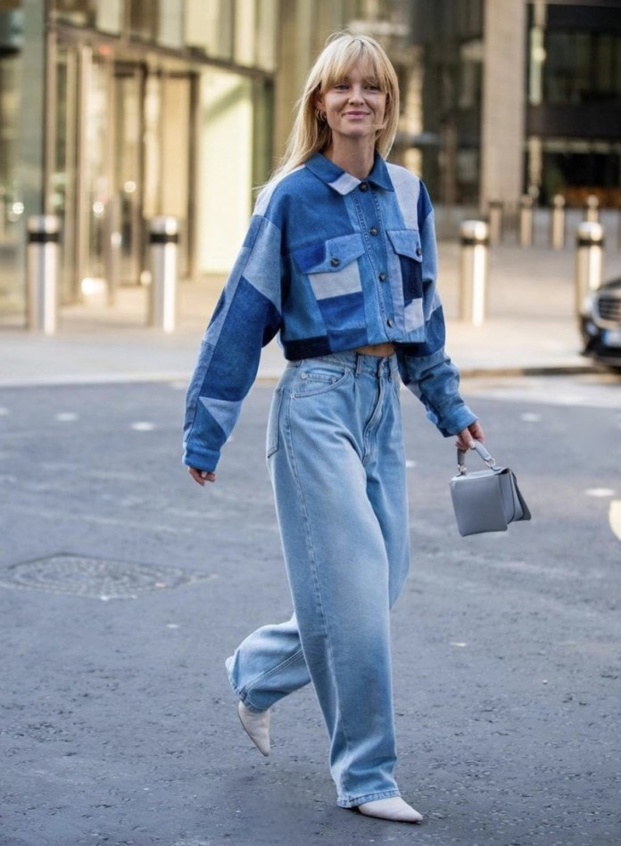 jeanette madsen cropped jacket mom jeans