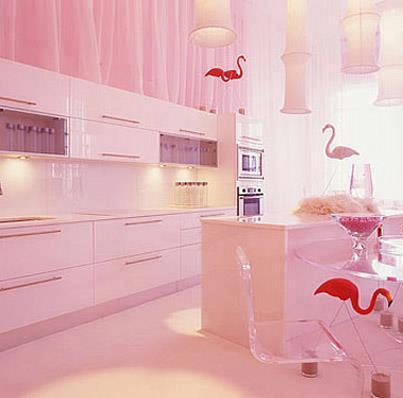 Cucina in rosa  Style Relooking  Progettazione Interni a Basso Costo
