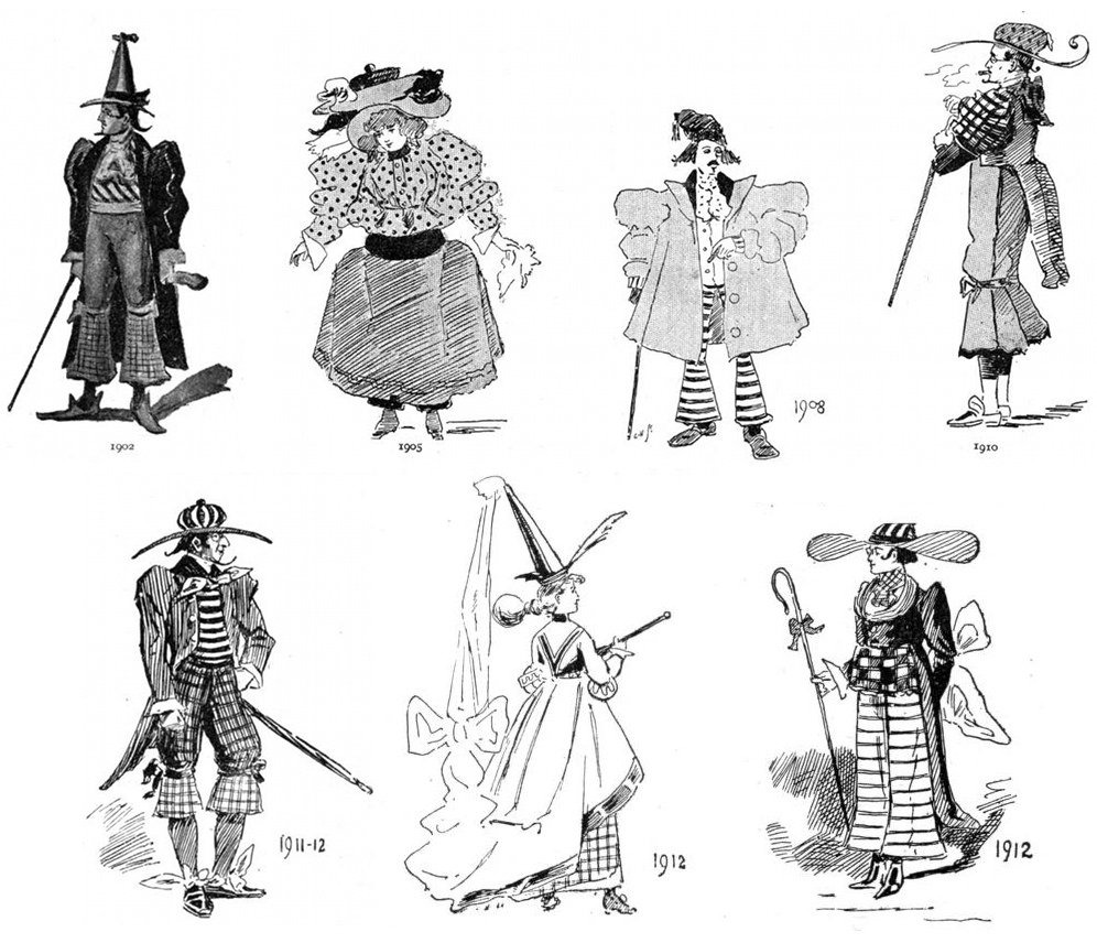 Predictions of future fashion by illustrators from 1893