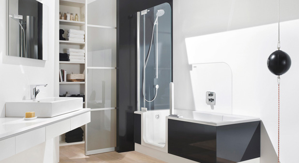 baignoire douche a porte