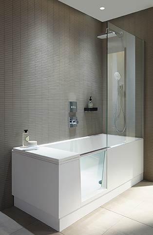 shower bath de duravit une baignoire