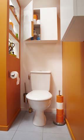 dans la salle de bain cacher les wc