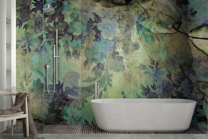 papiers peints pour la salle de bains