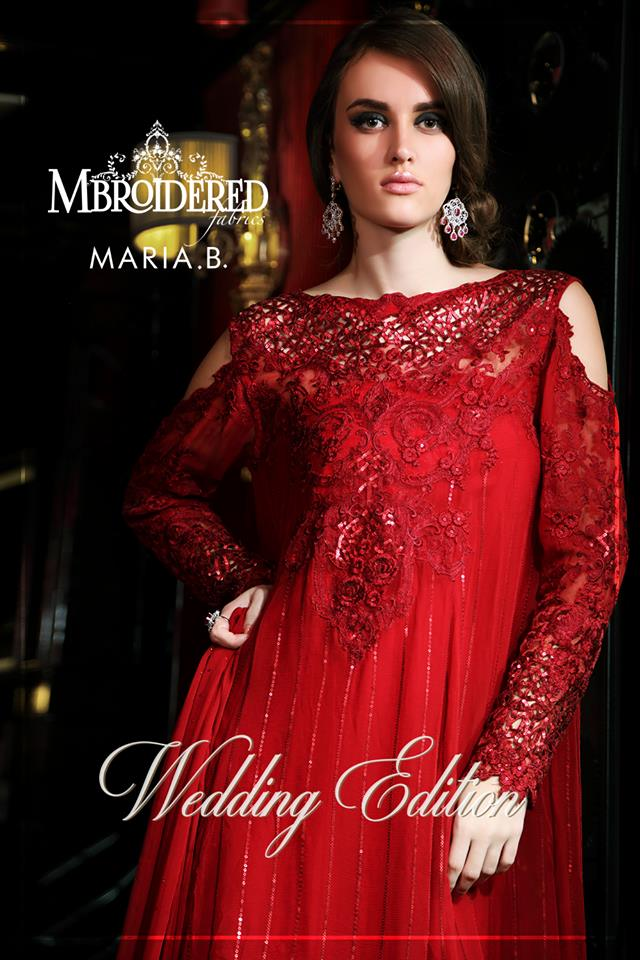 Maria B Latest Formal Wedding Dresses Collection 2017 2018