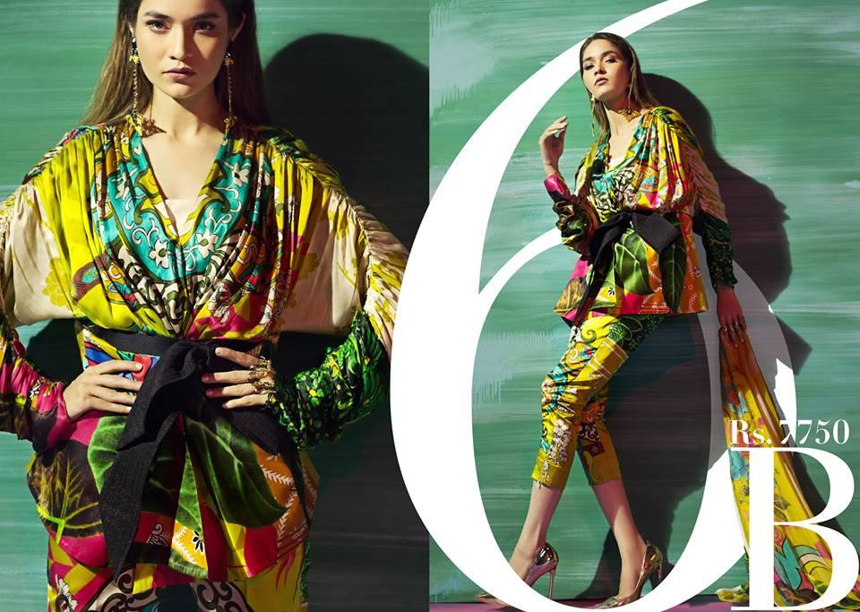 Stunning! Sana Safinaz Silk Chiffon Dresses Designs Collection 2017-2018