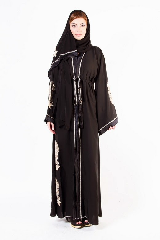 Latest Arabian Abaya Designs 2015 16 With Hijab Collection