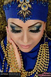 arabic bridal party wear makeup