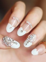 diy nail art tutorials rhinestones