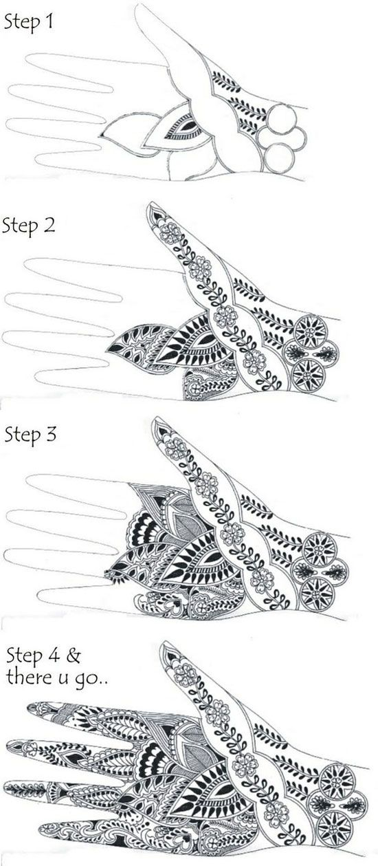 How To Apply Heena Mehndi Designs Tutorial Step By Step