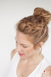 latest trends top knot hairstyles