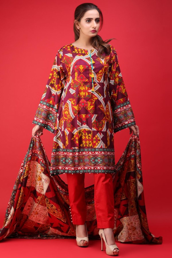 warda latest summer dresses printed