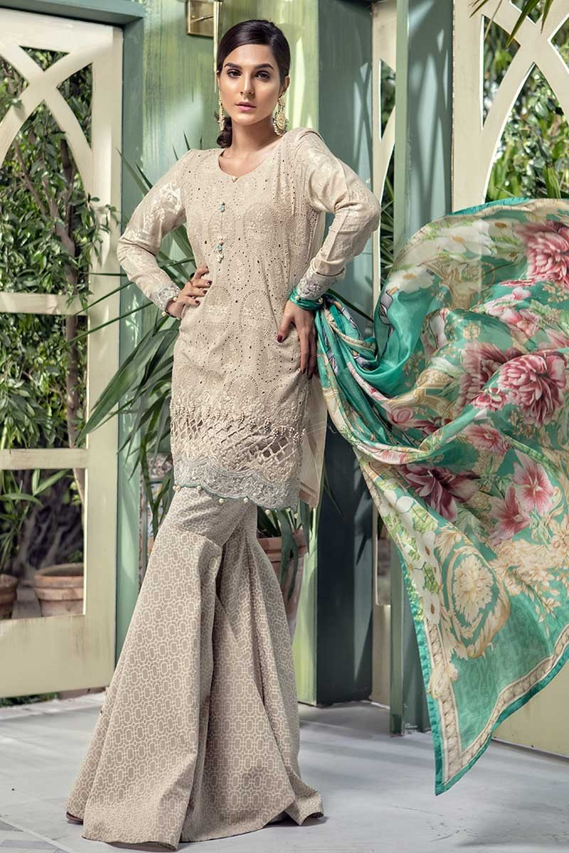 Latest Maria B Eid Lawn Dresses Designs Collection 2018 2019