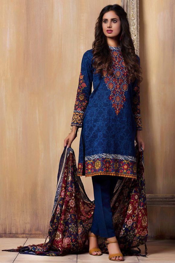 Incredible! Kayseria Best Winter Dresses Collection 2017-18 Pret, Fabric & Ladli