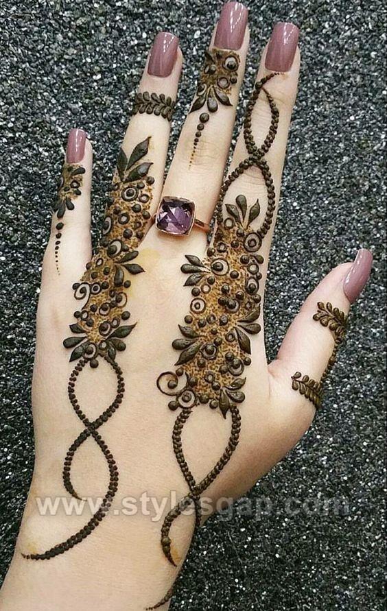 Back Finger Mehndi Design Easy Tattoos Ideas