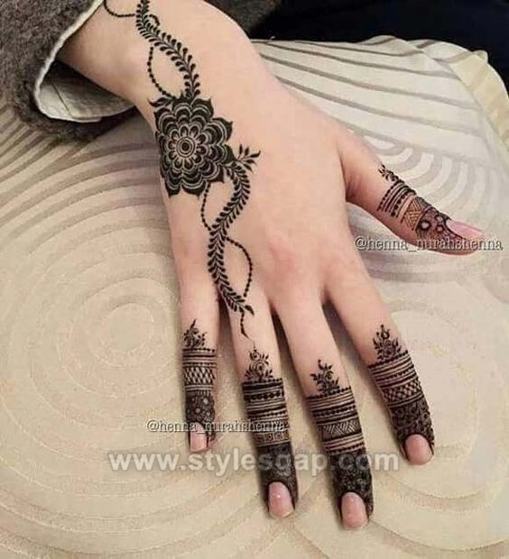 Simple One Finger Mehndi Design 2019