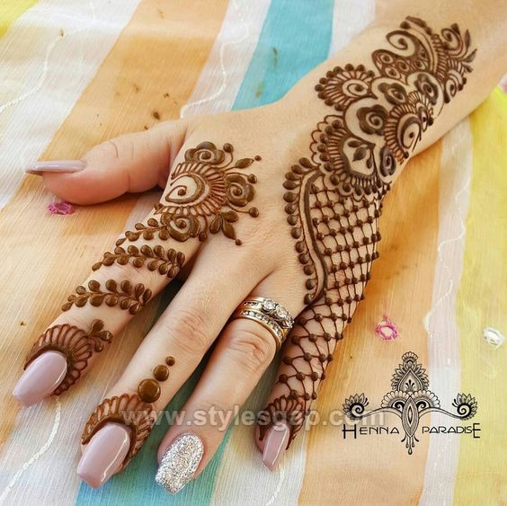 New Mehndi Design 2018 Only Finger
