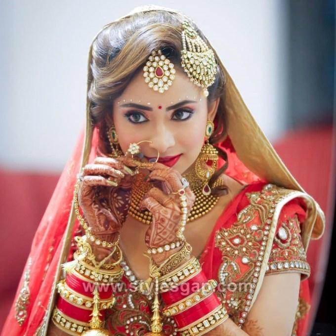 latest indian bridal dressing trends 2018- bridal makeup