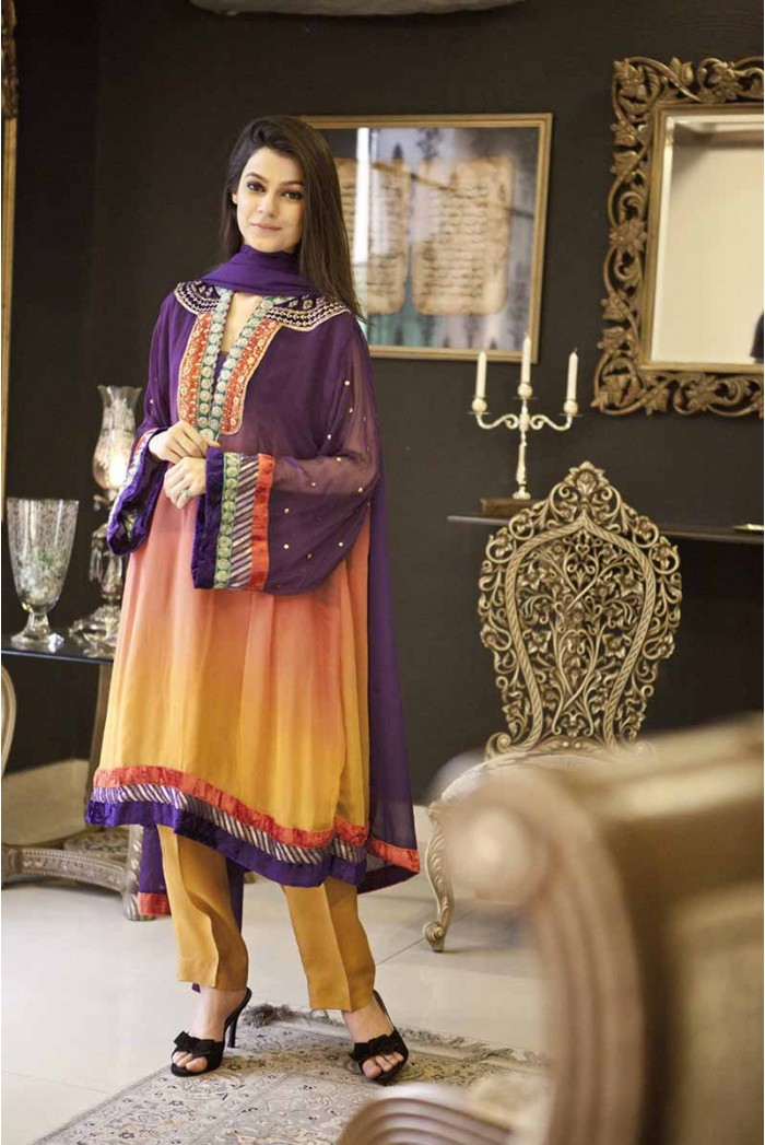 Maria B Best Evening Wear Party Dresses 2014 Collection