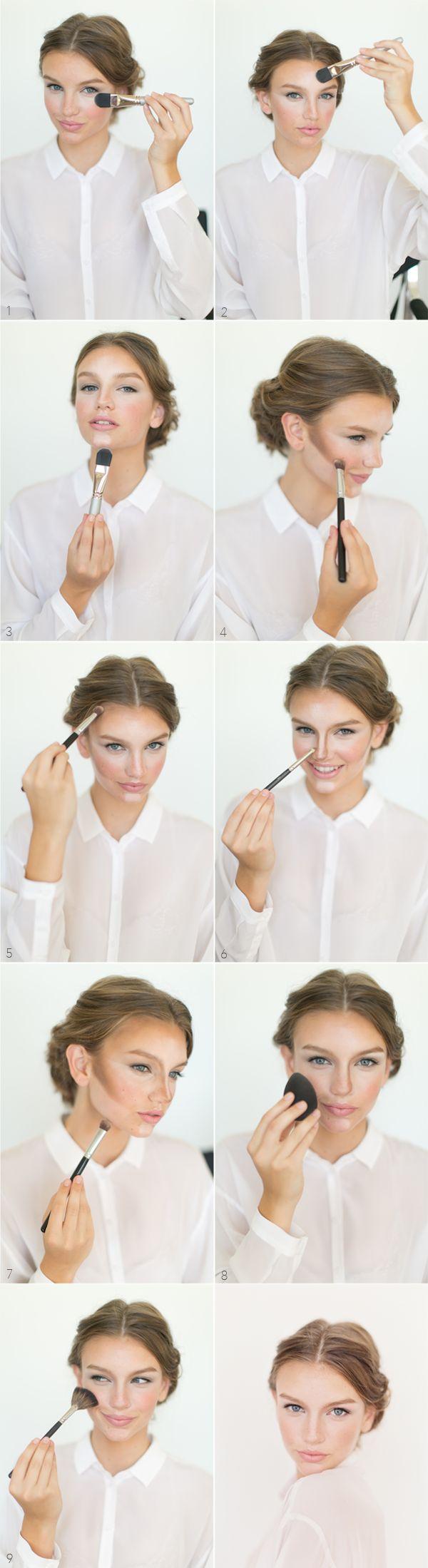 How To Highlight And Contour Makeup Tutorial Wonder Forest How To Blend  Contour Makeup Find And