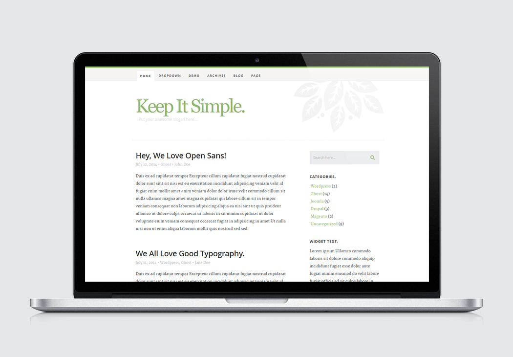 keep it simple high quality free website template by styleshout