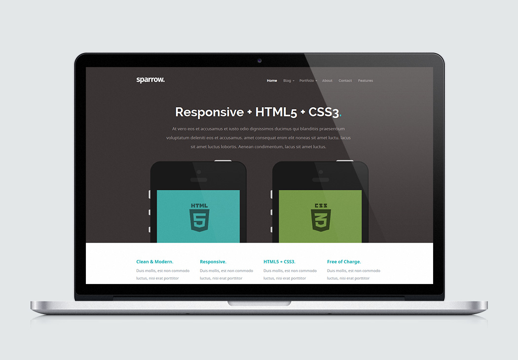 Free Website Template - Sparrow
