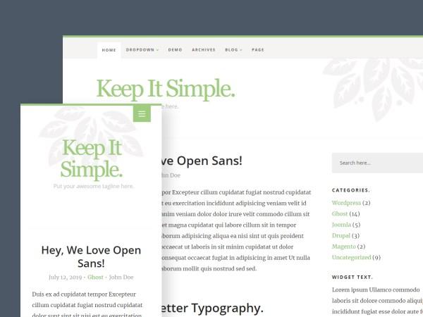 Free Website Template - Keep It Simple 3.0.0