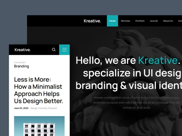 Free Website Template - Kreative 2.0.0